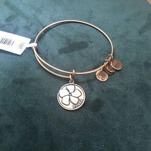 Alex and Ani Friend Charm Gold Bracelet